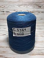 100% Хлопок Итальянская Пряжа в бобинах для машинного и ручного вязания (412грн за 1кг), фото 1