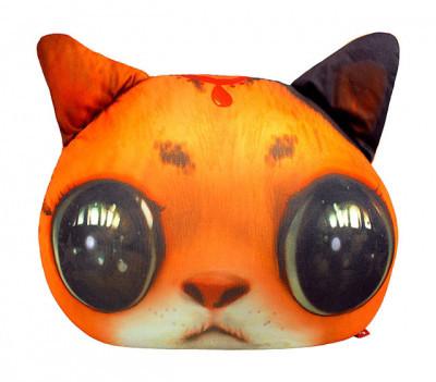 Игрушка подушка антистресс  Рыжий кот глазастик