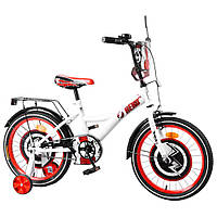 """Велосипед 18"""" TILLY Hero,T-218212 white + red"""