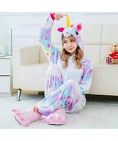 ✅ Детская пижама Кигуруми Единорог в звездочку (единорог со звездами, звездный единорог) 120 (на рост 118-128см)