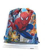 """Мішок для взуття №2760 """"Spider Man"""", нейлон 39х34см уп12"""