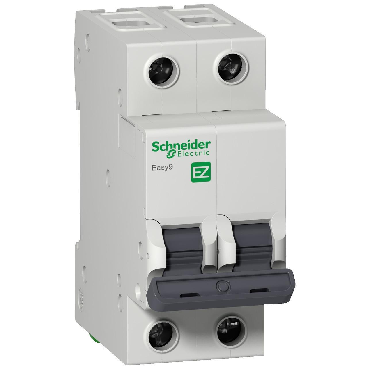Автоматический выключатель EZ9F34263 Easy9 Schneider 2P, 63A, тип «С»