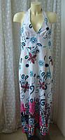 Платье женское сарафан лето хлопок макси батал бренд City Goddess р.50-52, фото 1