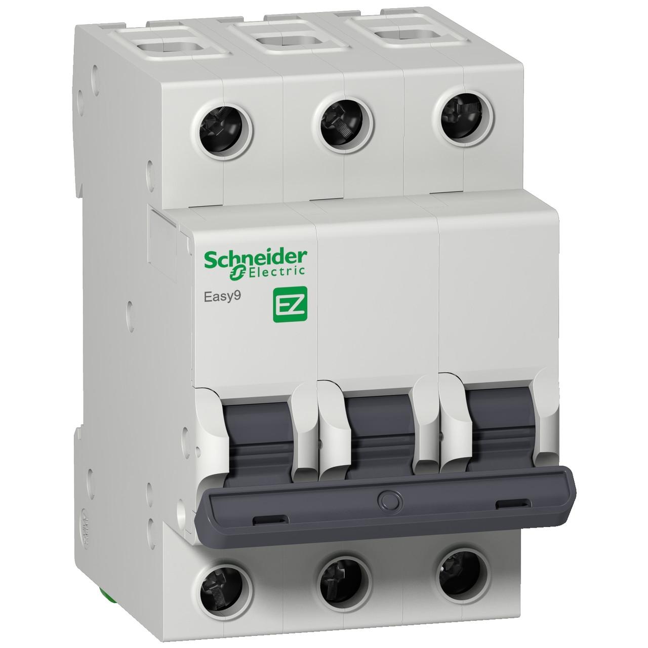 Автоматический выключатель EZ9F34306 Easy9 Schneider 3P, 6A, тип «С»