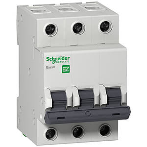 Автоматичний вимикач EZ9F34306 Easy9 Schneider 3P, 6A, тип «С»