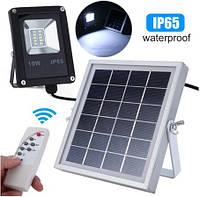 Светодиодный led прожектор 10W на солнечной батарее VARGO с пультом. Лед