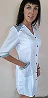 Женский медицинский коттоновый халат Рондо три четверти рукав