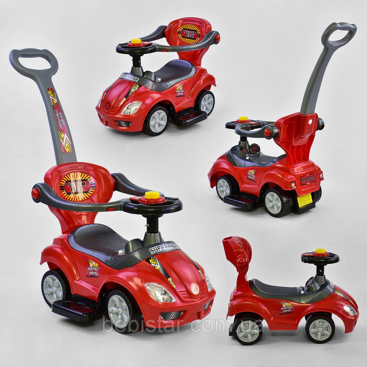 Каталка-толкар красный, звуковые и световые эффекты деткам от 1 года
