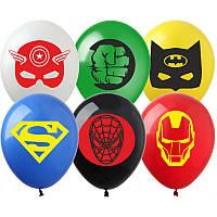 """Латексные воздушные шарики """"Мультяшки группа-3 для мальчиков"""",  пастель ассорти (100 шт/уп) , ArtShow"""