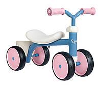 Детский беговел Smoby с металлической рамой четырехколесный розовый Carrier 721401