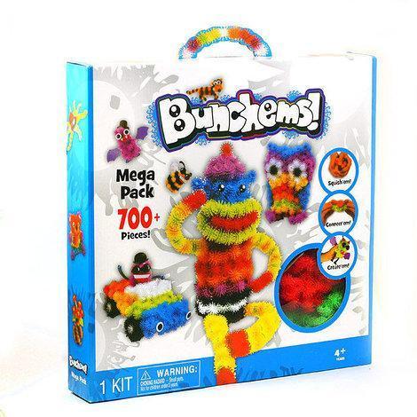 Конструктор липучка Bunchems 700 деталей | Конструктор для детей Банчемс