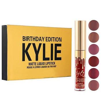 Набор жидких матовых помад Kylie Birthday Edition | Набор губной помады