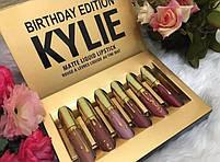 Набор жидких матовых помад Kylie Birthday Edition   Набор губной помады, фото 7