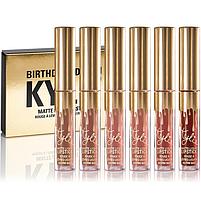 Набор жидких матовых помад Kylie Birthday Edition   Набор губной помады, фото 9
