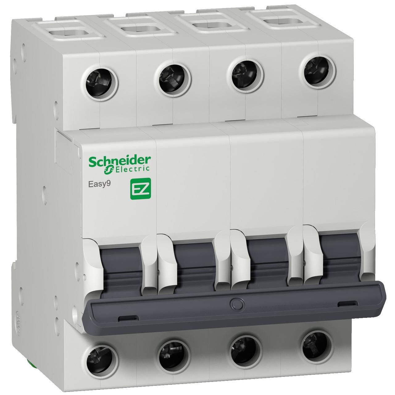 Автоматический выключатель EZ9F34463 Easy9 Schneider 4P, 63A, тип «С»