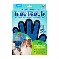 Перчатка для вычесывания шерсти животных True Touch | Перчатки для собак и кошек, фото 4