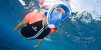 Инновационная маска для снорклинга подводного плавания Easybreath | Розовая, фото 4