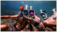 Инновационная маска для снорклинга подводного плавания Easybreath | Розовая, фото 6