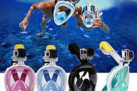 Инновационная маска для снорклинга подводного плавания Easybreath | Розовая, фото 9