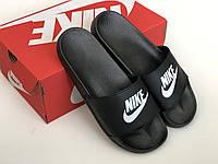 Nike Classic Slides Black Мужские сланцы в стиле Nike (Black), сланцы Найк, шлепанцы Найк, Тапочки найк 45