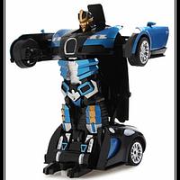 Машина-трансформер с пультом AUTOBOTS Bugatti Veyron Синяя (432734)