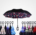 Зонт Наоборот Up-brella - Зонт Обратного Сложения | Розы, фото 4