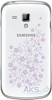 Задняя часть корпуса (крышка аккумулятора) Samsung S7562 Galaxy S Duos Original White La Fleur