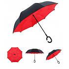 Зонт Наоборот Up-brella - Зонт Обратного Сложения | Красный, фото 2