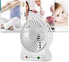 Мини вентилятор Mini Fan с аккумулятором   Белый, фото 2