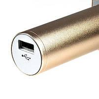 Беспроводной Bluetooth караоке-микрофон Q7 | Золотой, фото 7