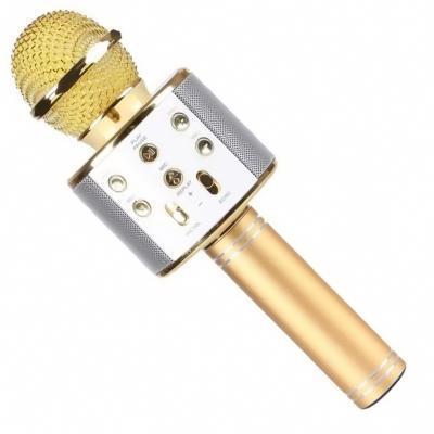 Беспроводной микрофон WS-858   Золотой