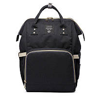 Сумка-рюкзак для мам LeQueen | Черная