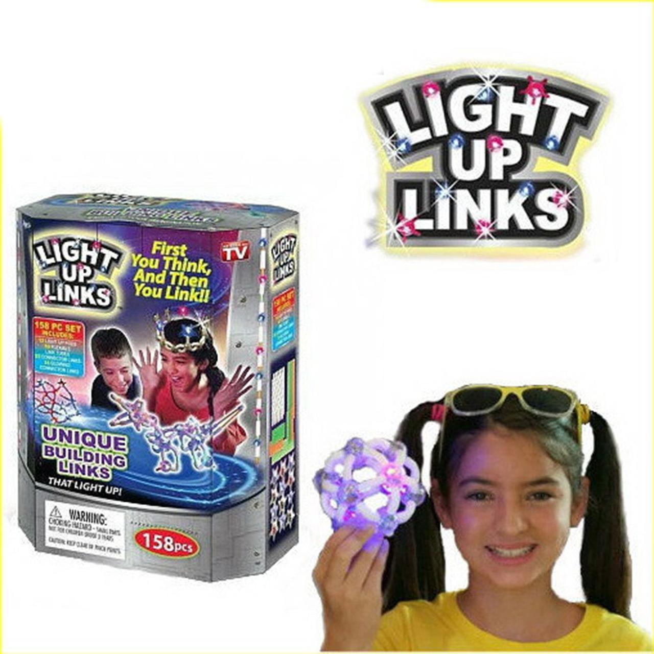 Детский Светящийся конструктор Light Up Links 158 деталей | Светящийся конструктор