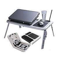 Столик подставка с охлаждением для ноутбука E-Table LD 09 | Портативный складной столик