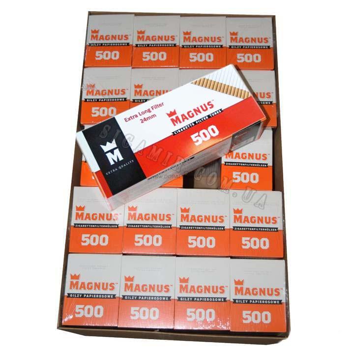 Сигаретные гильзы Magnus с Фильтром 24 мм  20 блоков по 500 шт ( ЯЩИК)