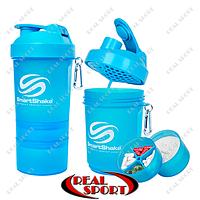 Шейкер SmartShake NEON 600 ml синий