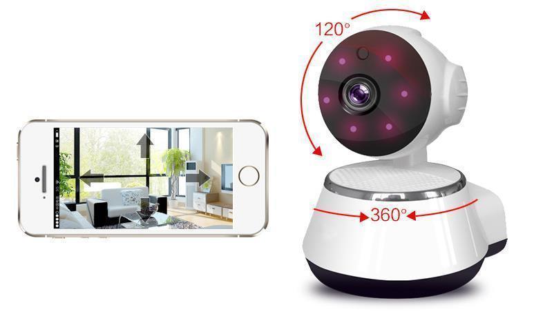 Камера видеонаблюдения WIFI Smart NET camera Q6 | Поворотная сетевая IP-камера