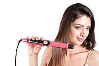 Плойка-утюжок  для волос 2 в 1 Domotec 4982 | Щипцы для волос, фото 3