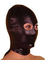 Садо мазо черная маска винил с глазами