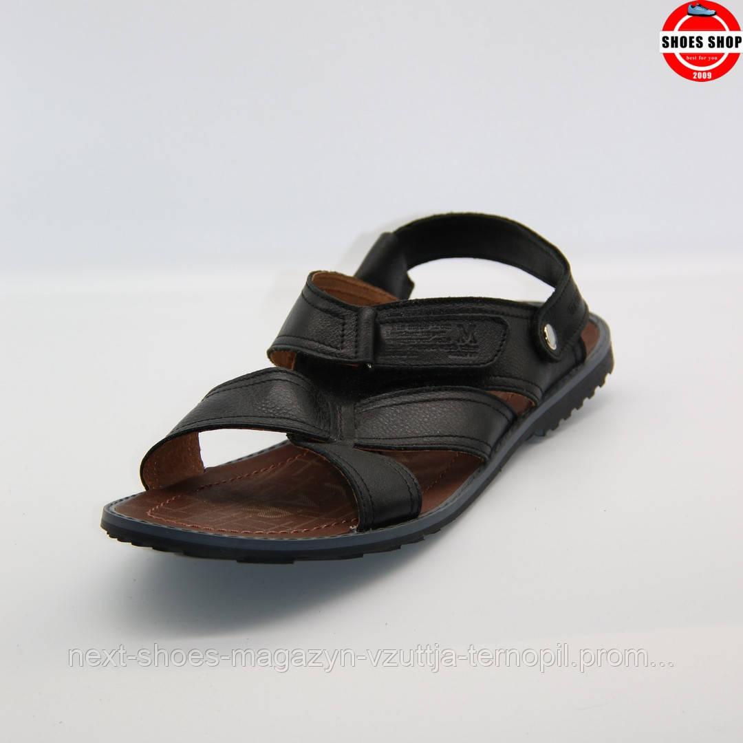 Чоловічі сандалі MAX MAYAR (Україна) чорного кольору. Зручні та стильні. Стиль - Девід Бекхем