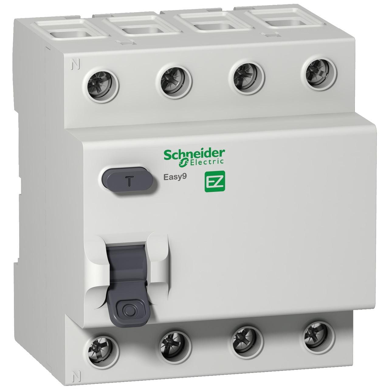 Дифференциальный выключатель EZ9R34425 Easy9 Schneider 4П 25A 30MA AC 72мм