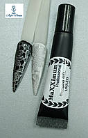 Гель фарба для стемпинга декор дизайн нігтів MaXXImum 7г срібло