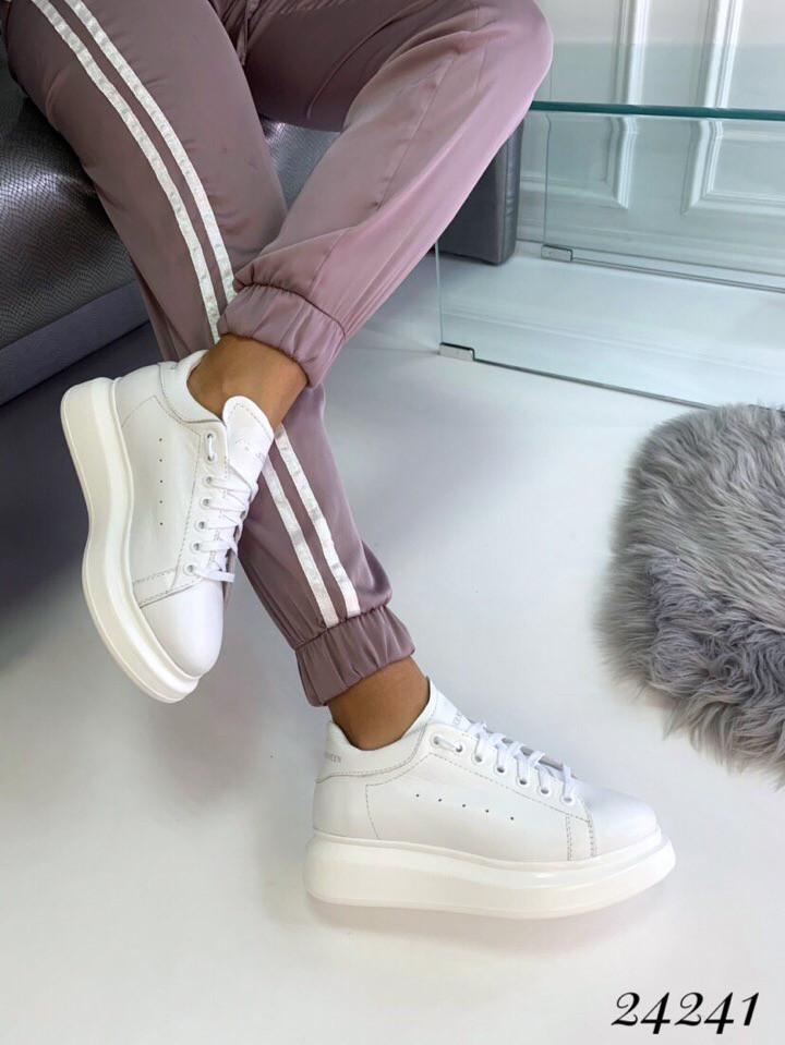 Кроссовки в стиле Alexander MQveen  Цвет: белый  натуральная кожа В наличии и под заказ
