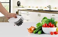 Нож для нарезки 3 в 1 Rolling Mincer и Tenderizer с чесночным прессом, фото 3