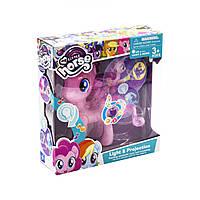 Игрушечная лошадка - пони My Little Pony , розовая , с проектором