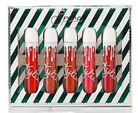 Матовая жидкая губная помада Kylie Spice | 5 штук в наборе