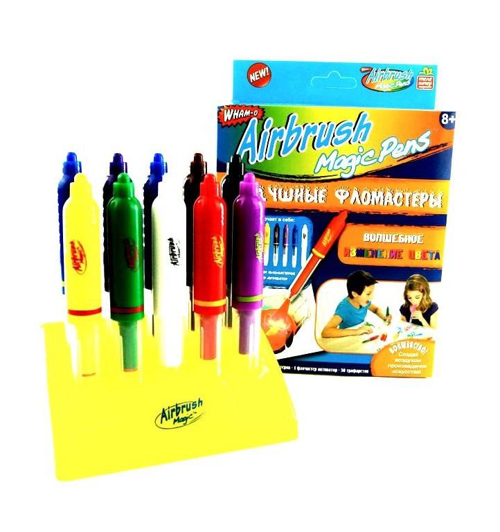 Детские воздушные фломастеры Magic Pens E 018 с подставкой | Аэрограф