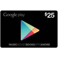 Подарочная карта Google Play Gift Card на сумму 25 USD, US-регион
