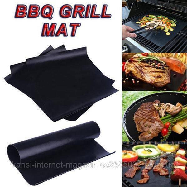 Гриль коврик с антипригарным покритием  33 * 40 см BBQ grill sheet, барбекю мат