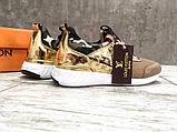 Брендовые Женские Кроссовки Louis Vuitton коричневые Качество Премиум Стильные Луи Виттон реплика 36 37 38 39р, фото 2